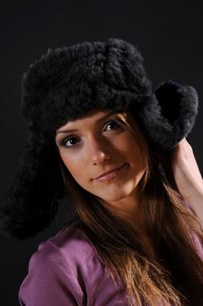 Free Woman In A Fancy Russian Hat Royalty Free Stock Photography - 8557327