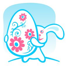 Free Rabbit With Easter Egg Royalty Free Stock Images - 8557329