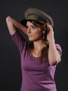 Free Army Girl Royalty Free Stock Photo - 8557575