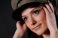 Free Army Girl Royalty Free Stock Photos - 8557678