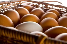 Free Basket With Eggs Stock Photography - 8558112