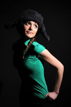 Free Woman In A Fancy Russian Hat Stock Photos - 8558623