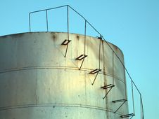 Fuel Storage Tank Royalty Free Stock Images