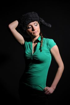 Free Woman In A Fancy Russian Hat Stock Photo - 8558720