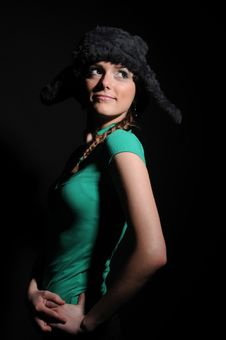 Free Woman In A Fancy Russian Hat Royalty Free Stock Images - 8558749