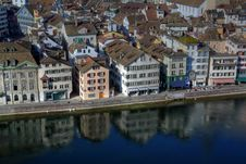 Free Limmat Waterfront - Aerial, Zurich Stock Image - 8558811