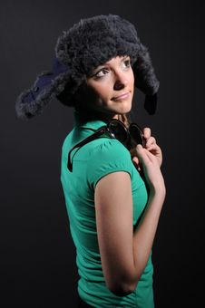 Free Woman In A Fancy Russian Hat Royalty Free Stock Image - 8558906