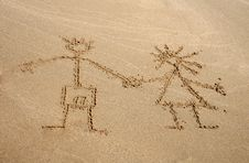 Free Image On The Sand Royalty Free Stock Photos - 8559068
