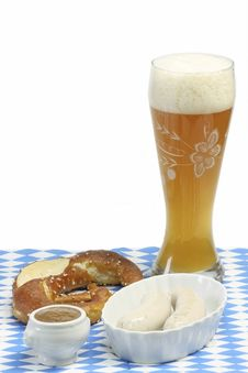 Free Bavarian Veal Sausage Royalty Free Stock Photography - 8559377