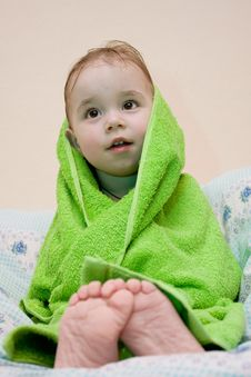 Free Bath A Baby Stock Photography - 8559612