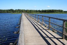Free Bridge Over A Lake Stock Photography - 8559852