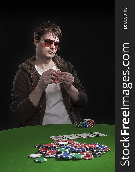 Man Playing Poker Free Stock Images Photos 8550103 Stockfreeimages Com