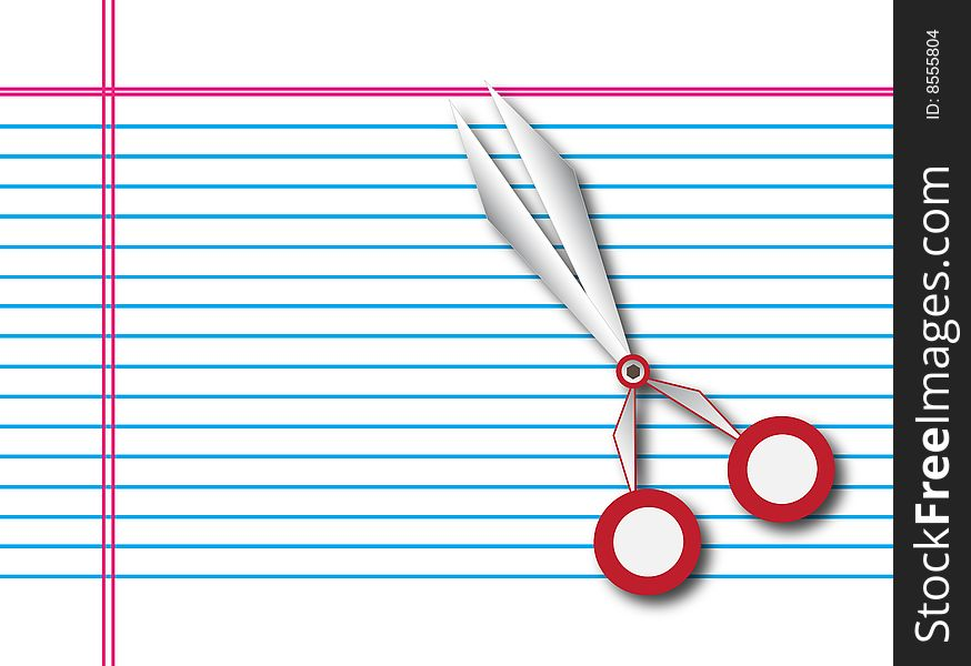 Paper with scissors