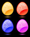 Free Set Of Vector Stylized Eggs Royalty Free Stock Photography - 8566707