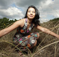 Free Woman In A Field Stock Image - 8568421