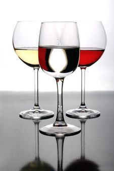 Free Three Glasses Of Wine Stock Image - 8561671