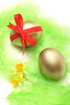 Free Golden Easter Royalty Free Stock Photography - 8562477
