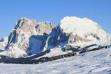 Free Mountain Landscape, Snow, Dolomites Alps Royalty Free Stock Photos - 8562608