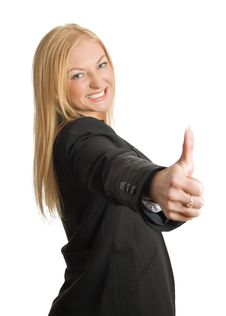 Free Businesswoman Show Thumb Up Sign Royalty Free Stock Image - 8562896