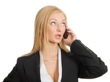 Free Calling Businesswoman Stock Images - 8562994