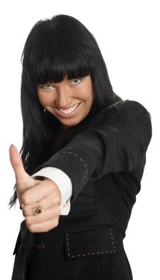 Free Businesswoman Show Thumb Up Sign Stock Photos - 8563113