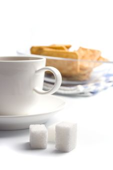 Free Cup Of Tea, Sugar And Cookies Stock Images - 8563784