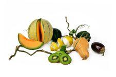 Free Eggplants And Melon Stock Photo - 8564170