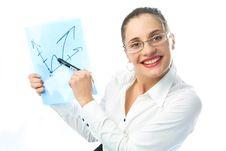 Free Businesswoman Showing A Scheme Royalty Free Stock Photos - 8564408