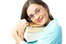 Happy Student With Books Royalty Free Stock Images