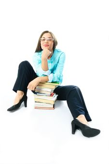 Student With Books Stock Photos