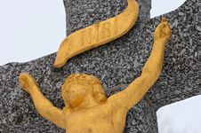 Free Golden Christ Sculpture Royalty Free Stock Photo - 8565005