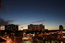 Free City At Dusk Stock Photos - 8566233