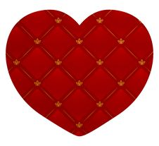 Free Vector Illustration Of A Leather Heart Stock Images - 8566824