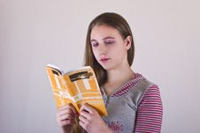 Free Girl Reading A Book Royalty Free Stock Photo - 8567315