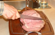Carving Roast Beef Royalty Free Stock Photo