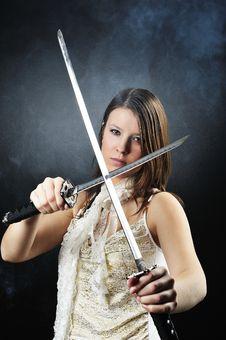 Free Beauty Katana Killer Girl Royalty Free Stock Images - 8568249