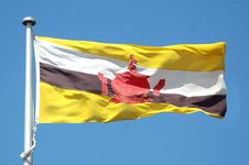 Free Flag Of Brunei Royalty Free Stock Photography - 8568297