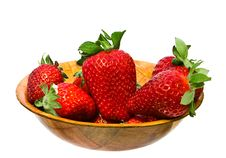 Free Bowl Strawberry Isolated Royalty Free Stock Photos - 8568468