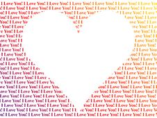 Free Heart Shaped Words I Love You Stock Photography - 8568532