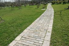 Stone Garden Path Royalty Free Stock Images