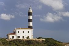Typical Mediterranean Lighthouse Stock Photo