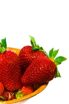 Bowl Strawberry Stock Images