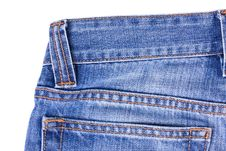 Free Blue Jeans On White Stock Photo - 8569160