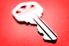 Free Key On Red Royalty Free Stock Images - 8569759