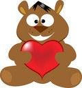 Free Cute Bear With Heart Stock Photos - 8573363