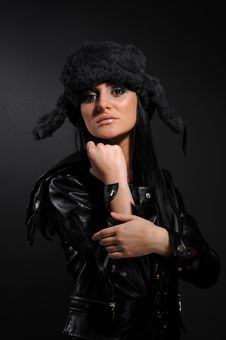 Free Woman In A Fancy Russian Hat Stock Photo - 8570000