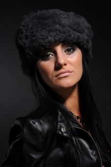 Free Woman In A Fancy Russian Hat Stock Photos - 8570003