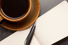 Free Coffee And Notebook Stock Images - 8570184