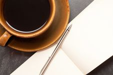 Free Coffee And Notebook Stock Photos - 8570193