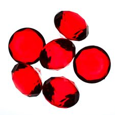 Free Red Plastic Jewels Stock Image - 8570201